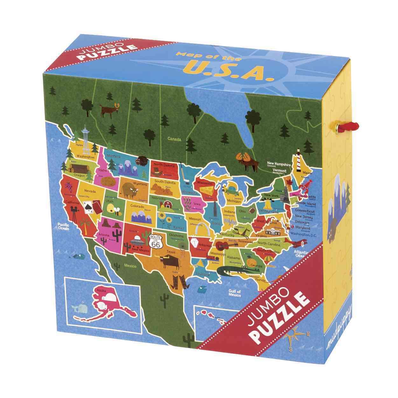 Map of the U.s.a. Jumbo Puzzle By Mack, Steve (ILT)